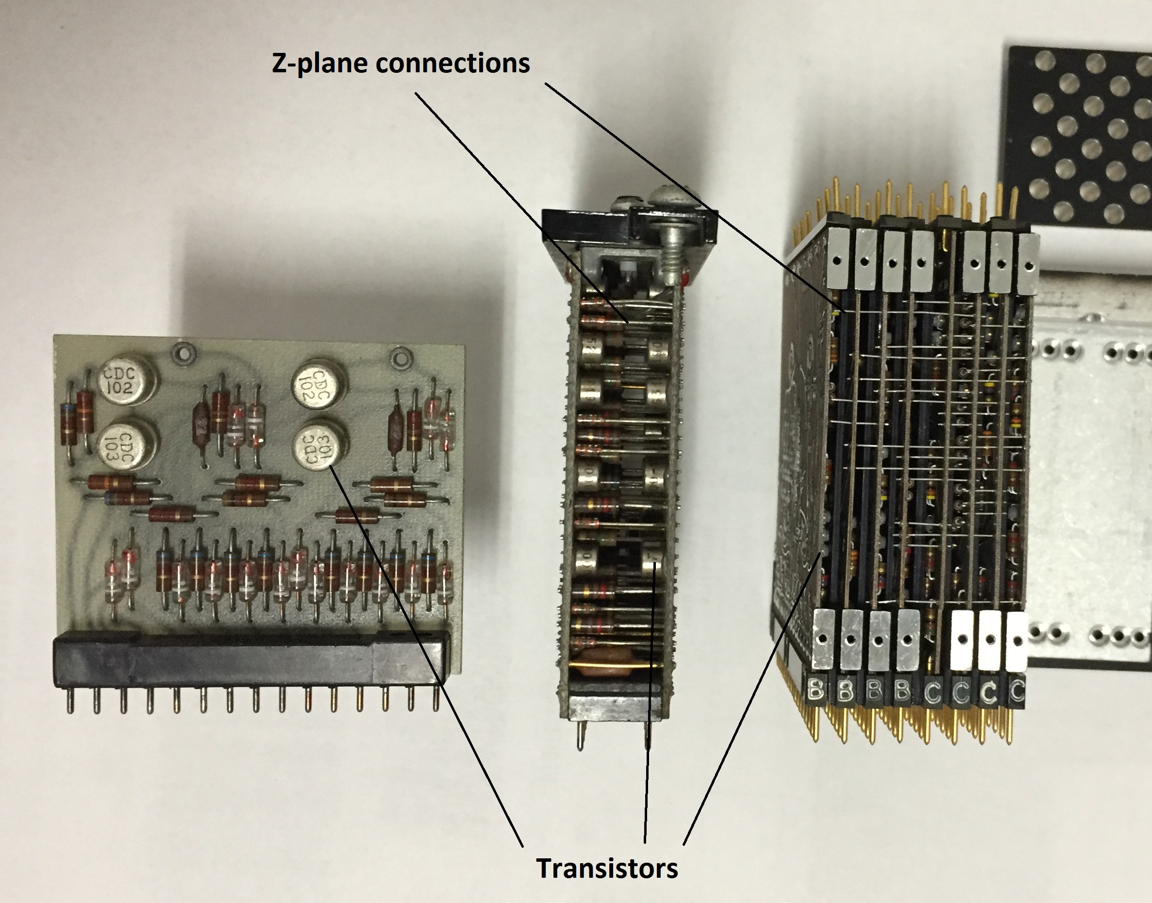 CDC circuit boards - side view