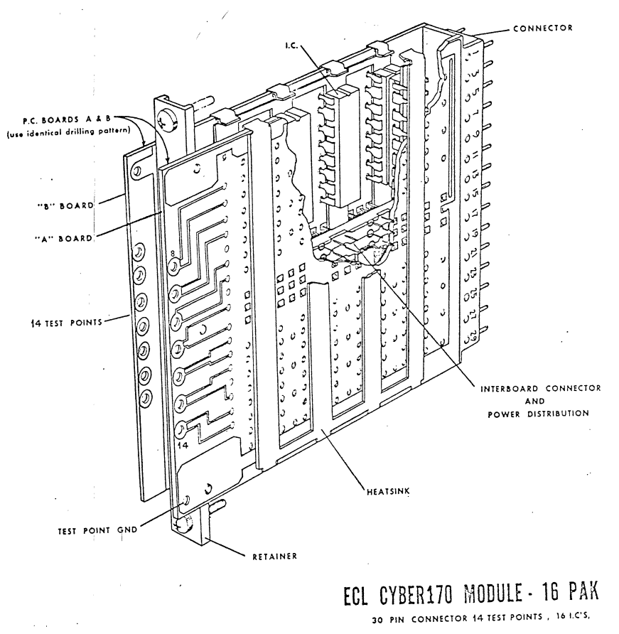 line drawing of a 170 cordwood module
